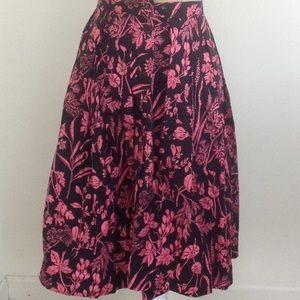Vintage Black and Pink Skirt